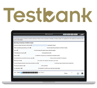 Testbank with laptop