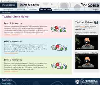 Your Space online Teacher zone